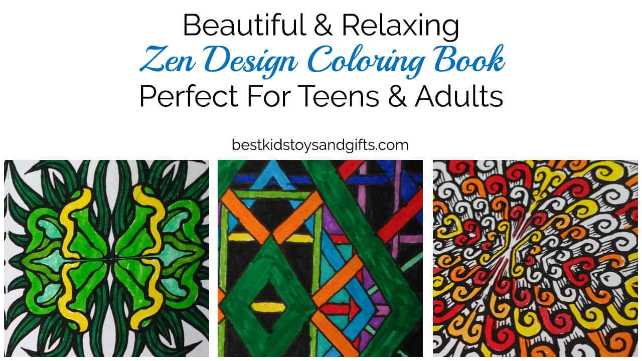 Beautiful Zen Coloring Book For Teens Adults