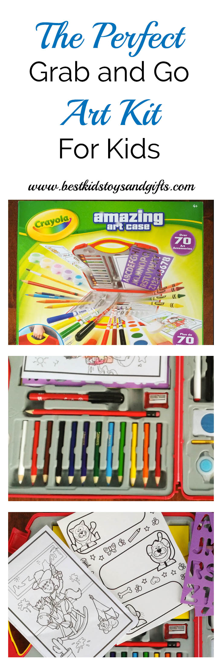 Best Crayola Toys For Kids : Crayola amazing art case the perfect grab and go kit