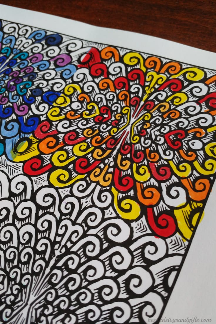 Swirly Pattern In Zen Coloring Book Relaxing Patterns For Teens And Adults