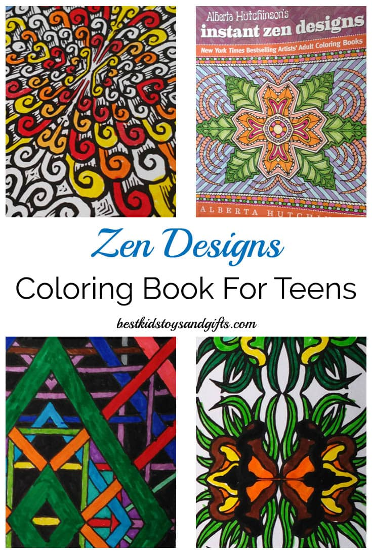 beautiful zen design coloring book for teens and adults bestkidstoysandgiftscom - Coloring Books For Teens